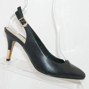ALDO 'Nelama' black leather slingback heels 7.5M